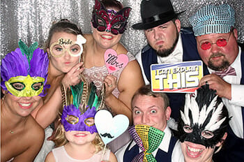 photo booth with disc jockey